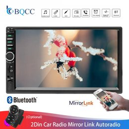 "usb audio video player 2020 - 2Din Car Radio 7018B Autoradio Mirror Link Touch Screen Audio Radio Bluetooth Video MP5 7"" Multimedia Player FM TF"