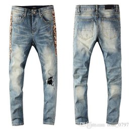 urban jeans UK - Fashion Hot sale mens denim jeans fashion mens jeans true slim washed zipper decorated urban casual pants fashion grinding car explosions