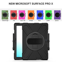 "ipad mini smart case green NZ - Shockproof Defender Case Best Armor Stand Cover For iPad 7 10.2 mini 12.9"" Microsoft Surface Pro X samsung 12.4"" 10.1 t510 Case 360 Rotating"
