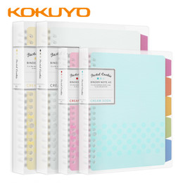note books a5 NZ - 1Pcs KOKUYO Macaron Note Book Loose Leaf Inner Core A5 B5 Note book Diary Plan Binder Office School Supplies Ring Binder