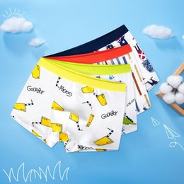 boxer underwear for boys UK - 4pcs Cotton Boys Underwear Kids Cartoon Quality Boxer Panties for Kids for 3 4 6 8 10 12 Years Old Clothes RKU183003