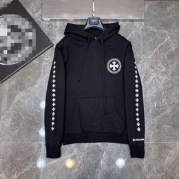 Wholesale hoodies for style men online – oversize Chrome CH Heart horseshoe cross hoodie high weight fabric the same style for men and women