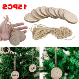 painting nylon plastic UK - Wood Tree Props Diy Kids 15pcs Painting Decor Craft Tags 2019 Merry Christmas Ornaments Enfeites#35 Rzoh
