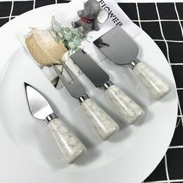 Western tableware ceramic handle stainless steel cheese knife creative marbling