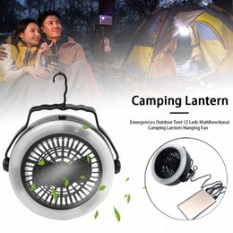 tent cooler Australia - Hook Multifunctional Air Cooler Camping Lantern Fishing Hanging Fan 2 In 1 Outdoor Tent Hiking 12 Leds Mini Survival Portable 0O4l#
