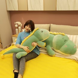 cute dinosaur cartoons Australia - Big Size Long Cute Dinosaur Plush Toy Soft Animal Stuffed Doll Boyfriend Cartoon Bed Pillow Kids Girl Birthday Gift
