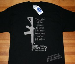 t shirt magazine UK - 2020 Hot sale Fashion Pro 2nd Second Amendment Gun Rights high capacity magazine T-shirt AR-15 Rifle Tee shirt