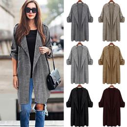 Wholesale new trench coat women european style for sale - Group buy Women Long Trench Jacket Coat New Fashion Plus Size Long Jackets Turn down Collar European American Style Khaki XL XL