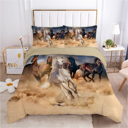 full size horse bedding set 2020 - 3D Bedding Sets Duvet Quilt Cover Set Comforter Pillowcase Bed Linen King Queen Full Single Size Camel Animal Horse Home