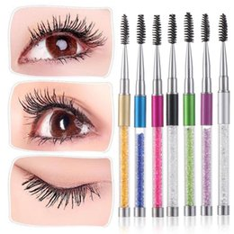 eyelash extensions graft Australia - 2020 Rhinestone Eyebrow Brush Mascara Spiral Wand Applicator Lashes Eyelash Brushes Extension Grafting Comb Eye Makeup Tools