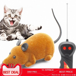 pet mice toys Canada - Pet Cat Toys Wireless Remote Control Mouse Pets Toy Interactive Plush Electronic RC Rat Mice Funny Pet Dog Cat Mouse Toy For Kf4c#