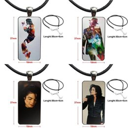 michael pendant Australia - Michael Jackson This Is It Glass Pendant Necklace Handmade Half Pendant Rectangle Necklace For Girls