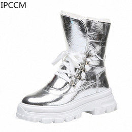 2019 Winter New Fashion College Style Front Straps Snow Boots Wild Waterproof Warm Plus Velvet Womens Boots Boot Ankle Boots 1xgz#