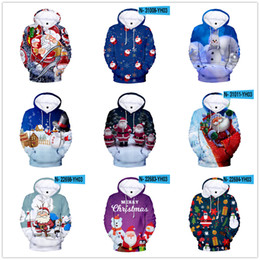 Wholesale pullover sweaters china resale online - Christmas Men and woman s Hoodies Sweatshirts Clothing Cheap China Plus size Christmas sweater Christmas print D winter snowman