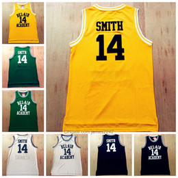 Wholesale movie size for sale – custom Movie Men s The Fresh Prince of Bel Air Will Smith Basketball jersey White Black Green Yellow Stitched Academy Jerseys Size S XL