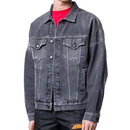 Wholesale jacket clothes for sale – winter 2020 New motorcycle Letter printing denim jacket high fashion famous bomber Denim Slim windbreaker jacket Mens jean clothing