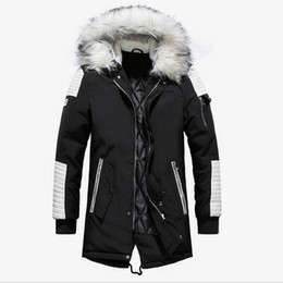 Wholesale mens raccoon fur coats resale online – PARKA MENS Fashion Brand Men Wram Parka Casual Coat Winter High Quality Men Hooded Coat Jackets Casual Men s