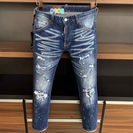 urban jeans UK - Fall new style D2020 jeans men's slim-fit washing micro-elastic fashion urban casual trend high-end jeans men 9713