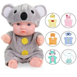 Wholesale cotton jumper suit resale online - Baby Dolls Outfit Clothes Suitable For Inches Reborn Baby Dolls Suit For Little Doll Accessories Jumpers Rompers For Children