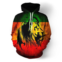 Wholesale cool 3d hoodie for sale – custom ONSEME Unisex Adult Long Sleeve Hooded Sweatshirts Cool Eagle Stripe Lions D Hoodie Pullovers Sweatshirt Outwear Drop Ship