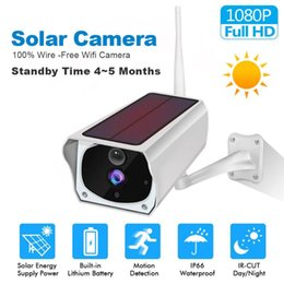 Discount wireless security cameras outdoors 1080P Solar WiFi IP Camera Outdoor Rechargerable Battery Wireless Security Camera PIR Motion Detection Surveillance CCTV