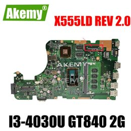 mainboard for laptop Australia - X555LD Motherboard REV 2.0 i3 cpu 4GB RAM For Asus X555L X555LP A555L K555L F555L X555LJ laptop motherboard Mainboard