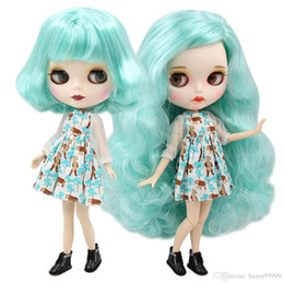 rubber face doll Australia - ICY factory blyth doll bjd joint normal body mint hair matte face, BL4268 136 30cm
