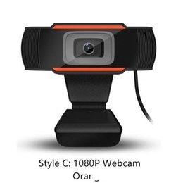 30 degrés rotatif 2.0 HD webcam d'enregistrement vidéo de la caméra USB 1080p webcam avec microphone, adapté pour les ordinateurs PC en Solde
