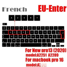 protective silicone keyboard NZ - French version Laptop Keyboard CoverFor pro13 15 A2159A1990 A1706 A1932 A2289 EU AZERT Keyboard Protective Film Silicone