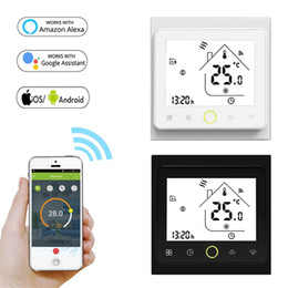 WiFi Smart Thermostat Temperature Controller for Water Electric floor Heating Water Gas Boiler Works with Alexa Google Home on Sale