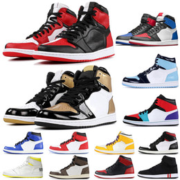 Wholesale top games online – design New High OG Bred Toe Chicago Banned Game Royal Shoes Men s Top Shattered Backboard Shadow Multicolor Sneakers