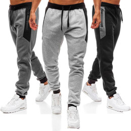 Wholesale men work pants for sale - Group buy Men Hot Sales Fashion Pants Splicing Printed Casual Pocket Sport Work Casual Trouser Pants High Quality Comfortable Pants