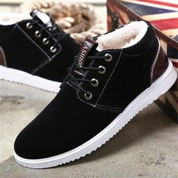 new shoe design male UK - new snow boots men's casual warm comfortable low to help design cotton men sneakers shoes male comfortable winter boots gfmh#