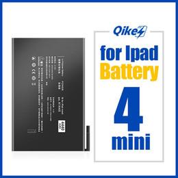 qikes Tablet Pil Apple iPad Mini 4 Mini4 A1538 A1546 A1550 Yedek Pil 5124mAh Yüksek Kapasiteli Bateria