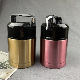 Wholesale Solid Color Vacuum Insulated Pot 304 Stainless Steel Student Insulated Rice PotPortable Retractable Outdoor Portable Lunch Bento Box VT1648