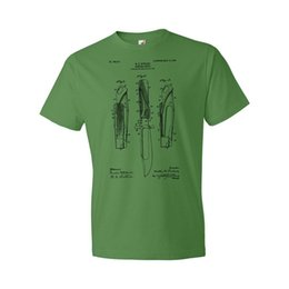 scout shorts UK - Hunting Knife Shirt Hunting Gift Bowie Knife Boy Scouts Survival Knife 2019 New Brand Sales Cotton Short Sleeve Military T Shirt