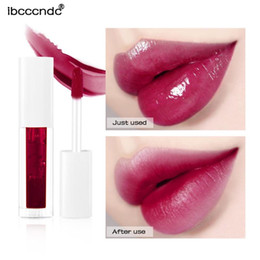 Discount lipstick liquid korean New Beauty 7 Colors Fruit Liquid Lipstick Lip Gloss Long Lasting Waterproof Moisturizing Lip Tint Sweet Korean Makeup