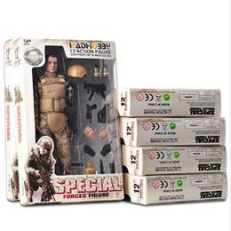 """12"""" 6/1 SWAT SDU SEALs Üniforma Elite Force Özel Askeri Müteahhit Ordu Koleksiyon Eylem Şekil Boy Yetişkin Oyuncak Hediye 30cm"""