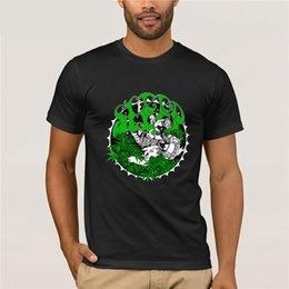 Wholesale stoner shirts for sale – custom Stoner Doom Band KYUS SLEEP DRAGONAUT T shirt Top Quality Cotton Casual Men T Shirt Men Print