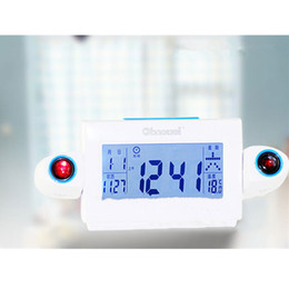 Discount digital bell alarm clock Electronic Alarm Clock LCD Display Snooze Alarm Clock LED Backlight Bell Timer Projection Digital for Bedroom