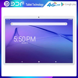 Discount gps tab BDF 10.1 Inch Android 9.0 Tablet PC Octa Core 3G 4G LTE Phone Call Tablets Dual 4G SIM Cards Google GPS WiFi Bluetooth t