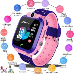 Wholesale alarm message watch for kids resale online - Slimy Q12 LBS Tracker Kids Camera Smart Watch G Mirco SIM Calls Anti Lost LBS SOS Location Alarm for IOS Android Phone