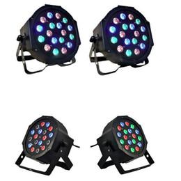 18W 18-LED RGB этап света черный пульт дистанционного / автоматического / звука Управление мини DJ бар вечеринка на Распродаже