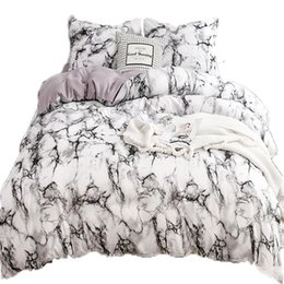 purple bedding sets UK - Pink Marble Bedding Sets Duvet Cover bed sheets and Pillowcases 3 pcs Bed Sheet Twin Queen King Teenager Print