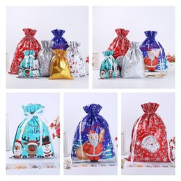 plastic bag drawstring Australia - New Home Christmas Gift Sacks Drawstring Bag Santa Sack Bags gift bundle pocket Gift Storage Bag T10I0032