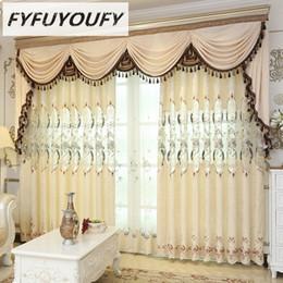 venda por atacado FYFUYOUFY Europeia cortinas para sala de estar muito bem bordado cortinas de tule para o quarto do berçário em tecido jCaj #
