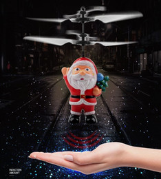Flying Santa Claus Induction Toy Aircraft Flying Ball Novel Suspension Remote Control Toy Aircraft for Kids Christmas Gifts DHL Free on Sale