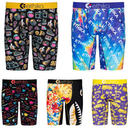 Wholesale Ethika Men Beach Pants Casual Shorts Fashion Printed underpants Summer designer Mini Leggings Quick dry Men Swimming pants Plus Size