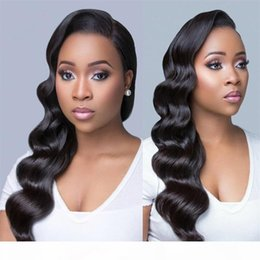 front lace wig ponytail UK - 130% Density Brazilian Water Wave Full Lace Human Hair Wigs With Baby Hair Ponytail Lace Front Human Hair Wigs For Black Women