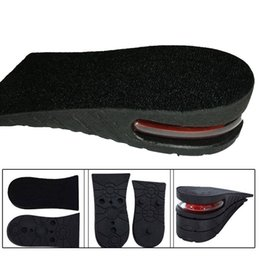 shoe lifts insoles UK - 3 -4 .5cm Height Increase Insole Cushion Height Lift Adjustable Cut Shoe Heel Insert Taller Women Men Unisex Quality Foot Pads